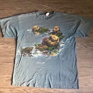 Vintage 1990 Otter Single Stitch Tee XL